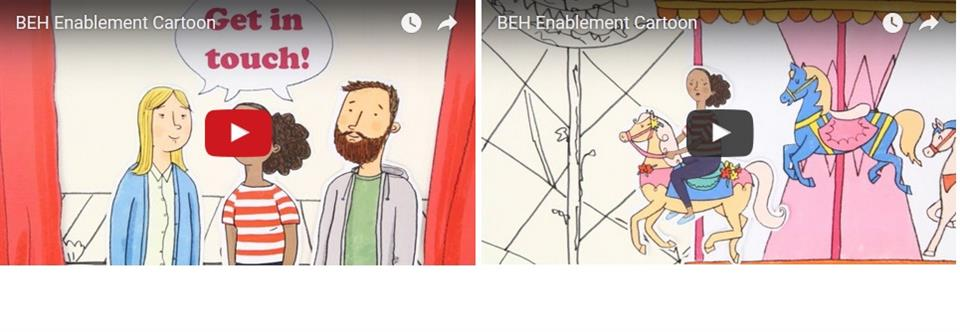 Enablement cartoon images